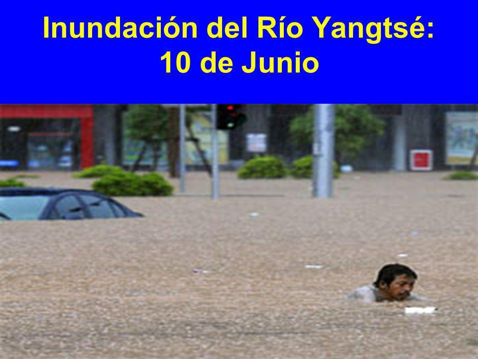 Inundación del Río Yangtsé: 10 de Junio