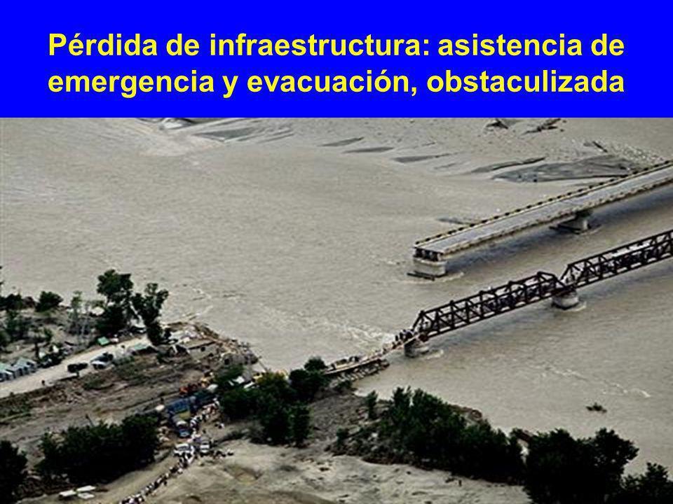 Pérdida de infraestructura: asistencia de emergencia y evacuación, obstaculizada
