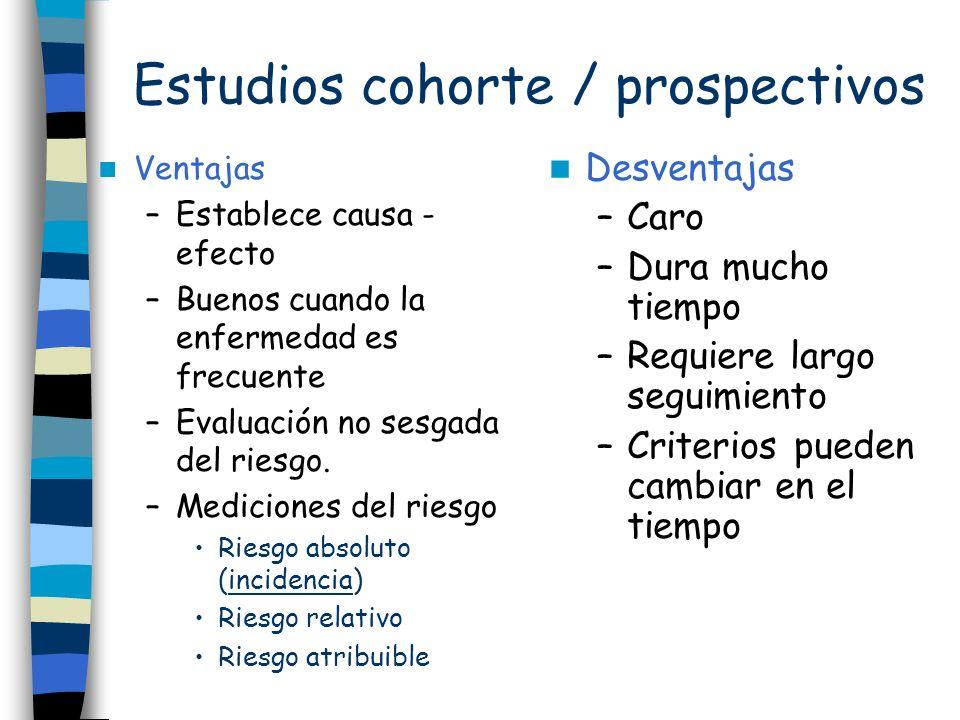 Estudios cohorte / prospectivos