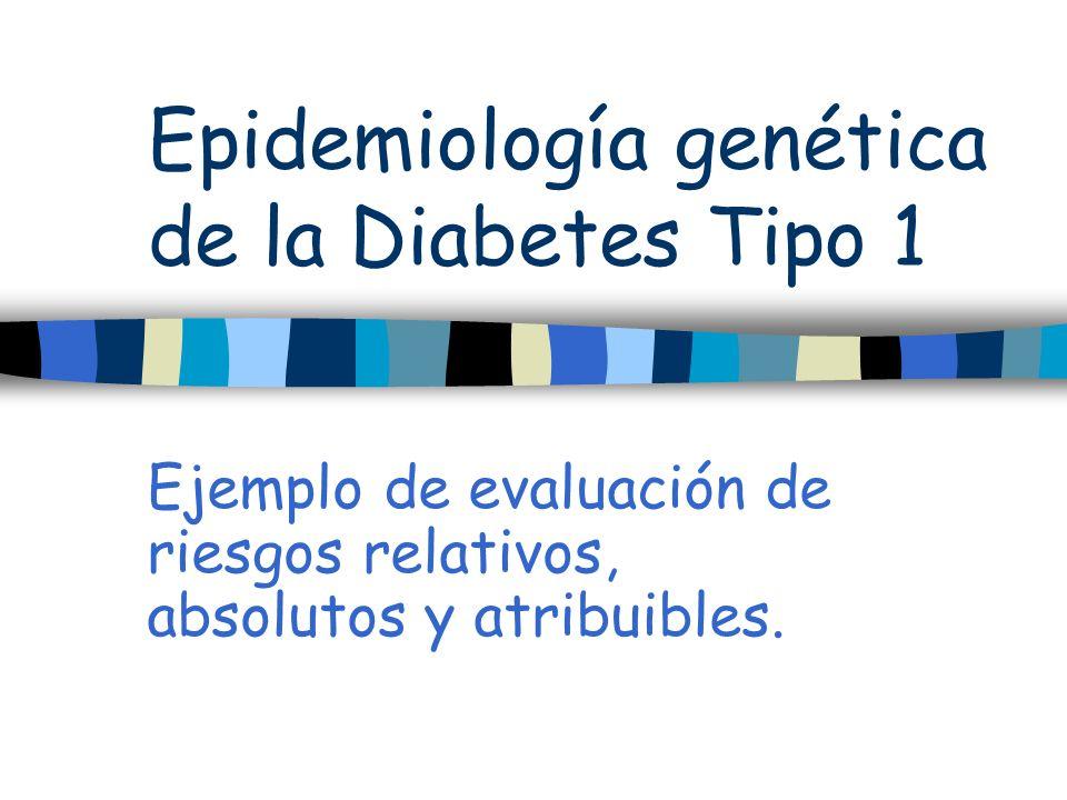Epidemiología genética de la Diabetes Tipo 1