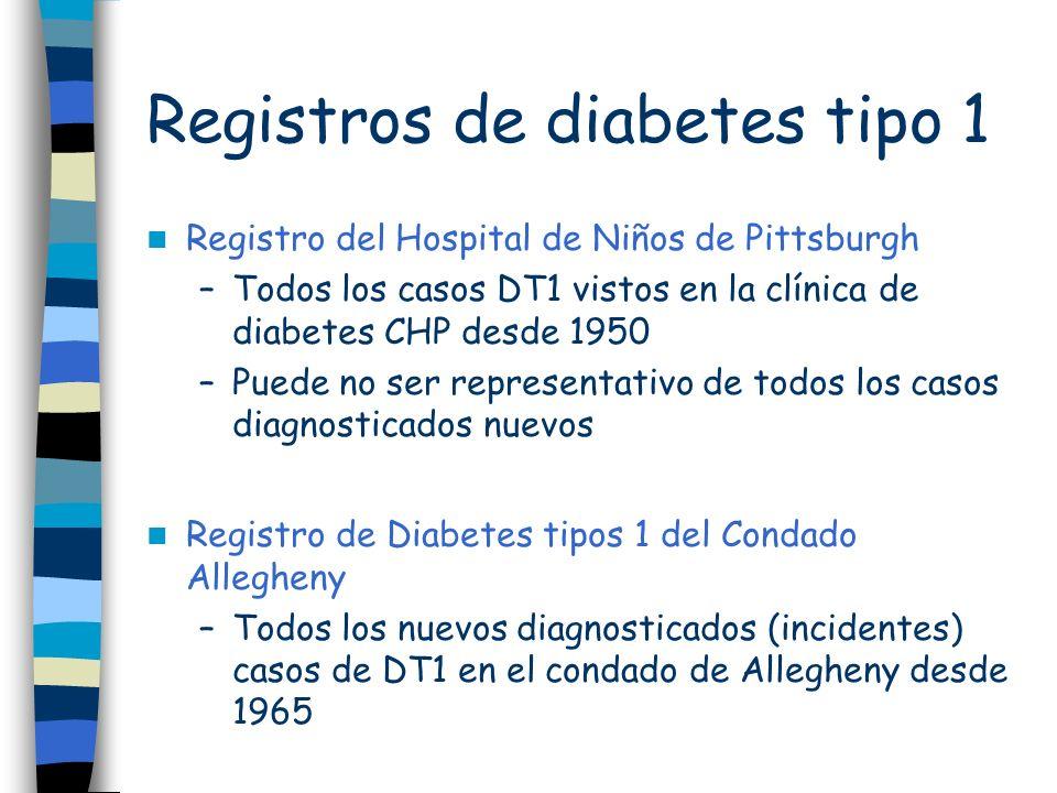 Registros de diabetes tipo 1