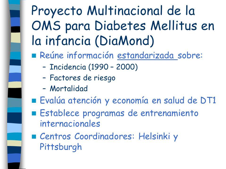 Proyecto Multinacional de la OMS para Diabetes Mellitus en la infancia (DiaMond)