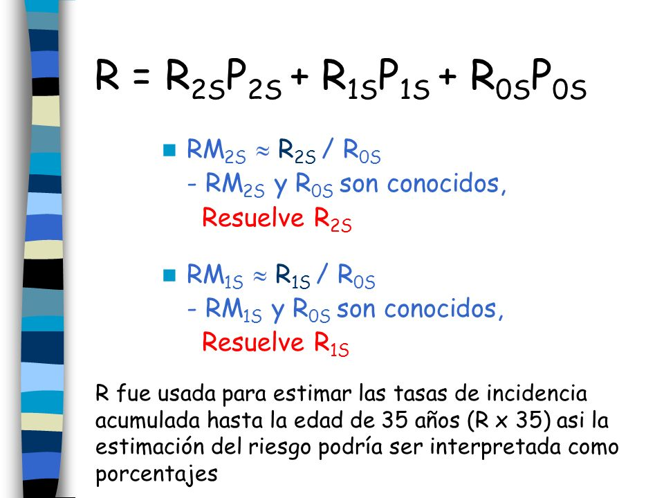 R = R2SP2S + R1SP1S + R0SP0S RM2S  R2S / R0S