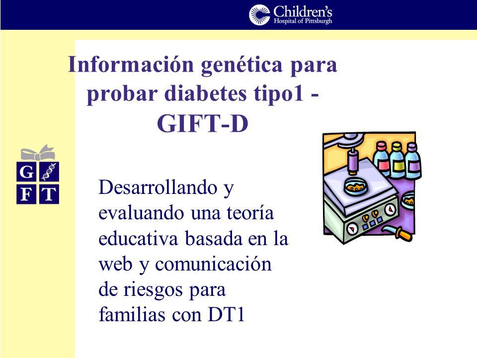Información genética para probar diabetes tipo1 - GIFT-D