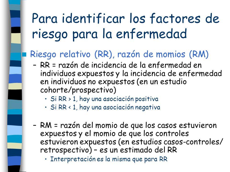 Para identificar los factores de riesgo para la enfermedad