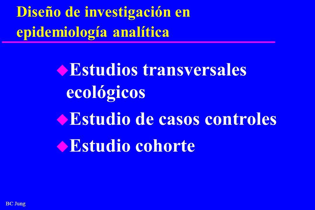 Diseño de investigación en epidemiología analítica