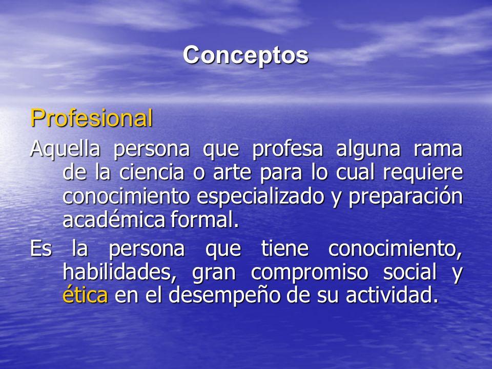 Conceptos Profesional