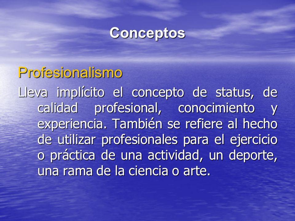 Conceptos Profesionalismo