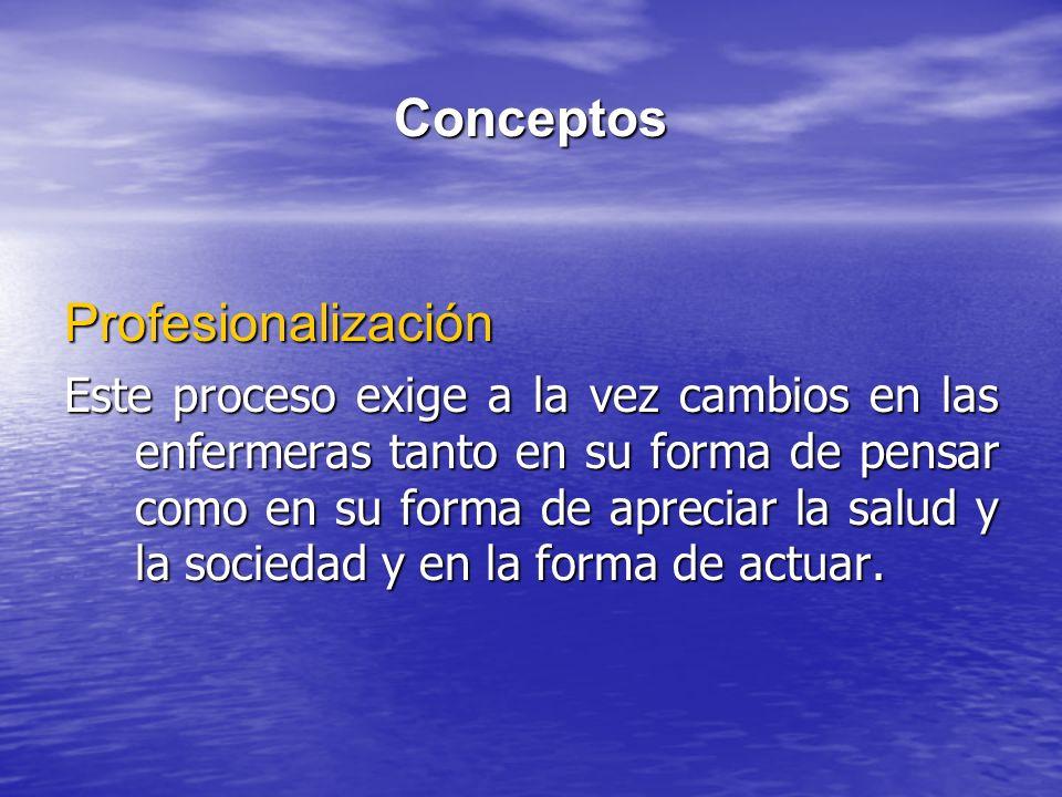 Conceptos Profesionalización