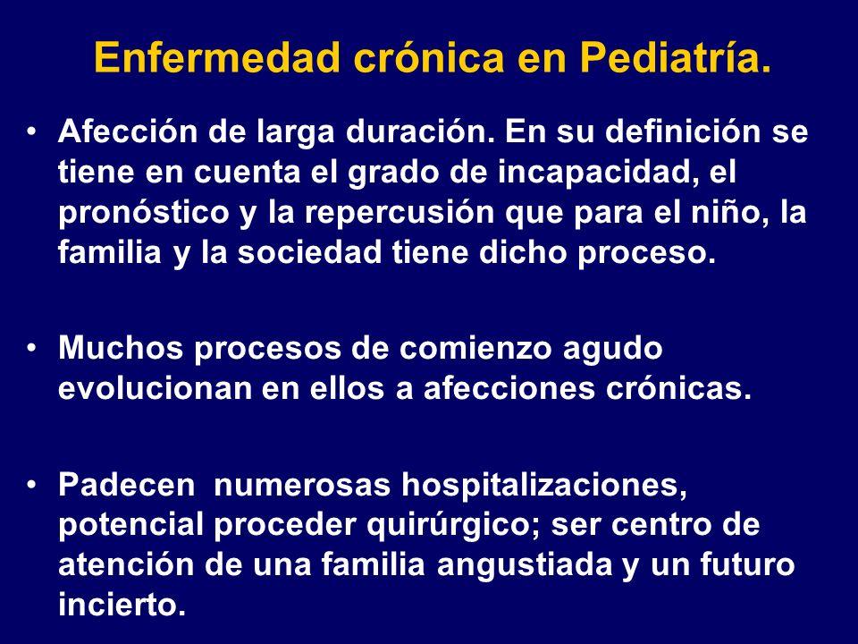 Enfermedad crónica en Pediatría.