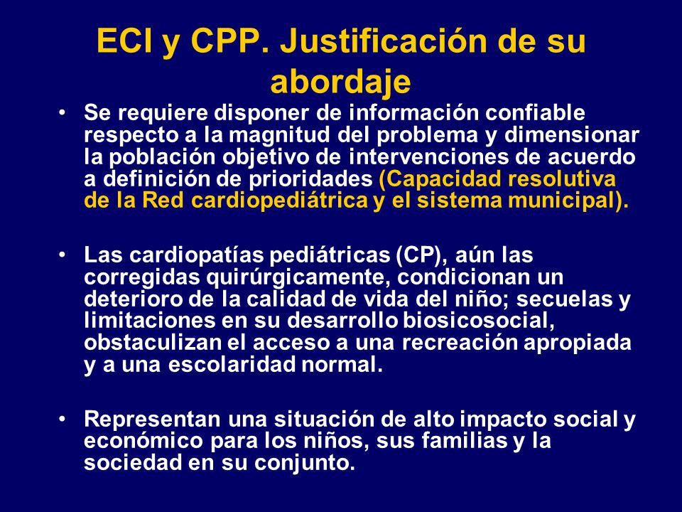 ECI y CPP. Justificación de su abordaje