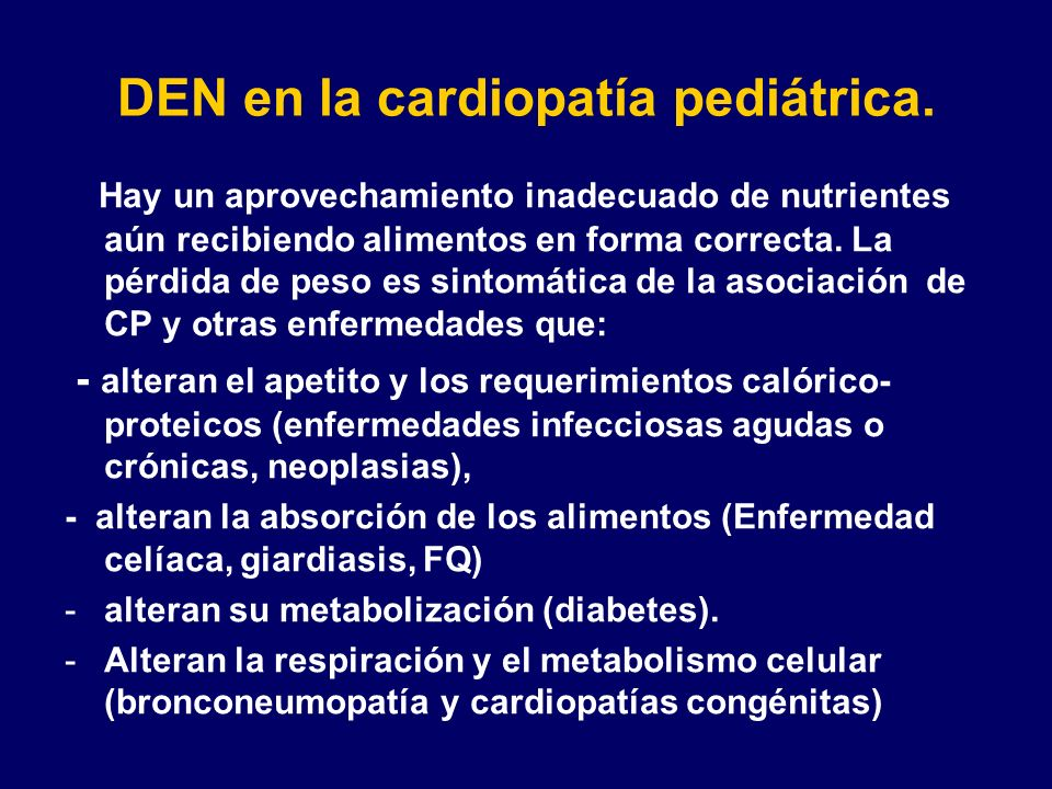 DEN en la cardiopatía pediátrica.