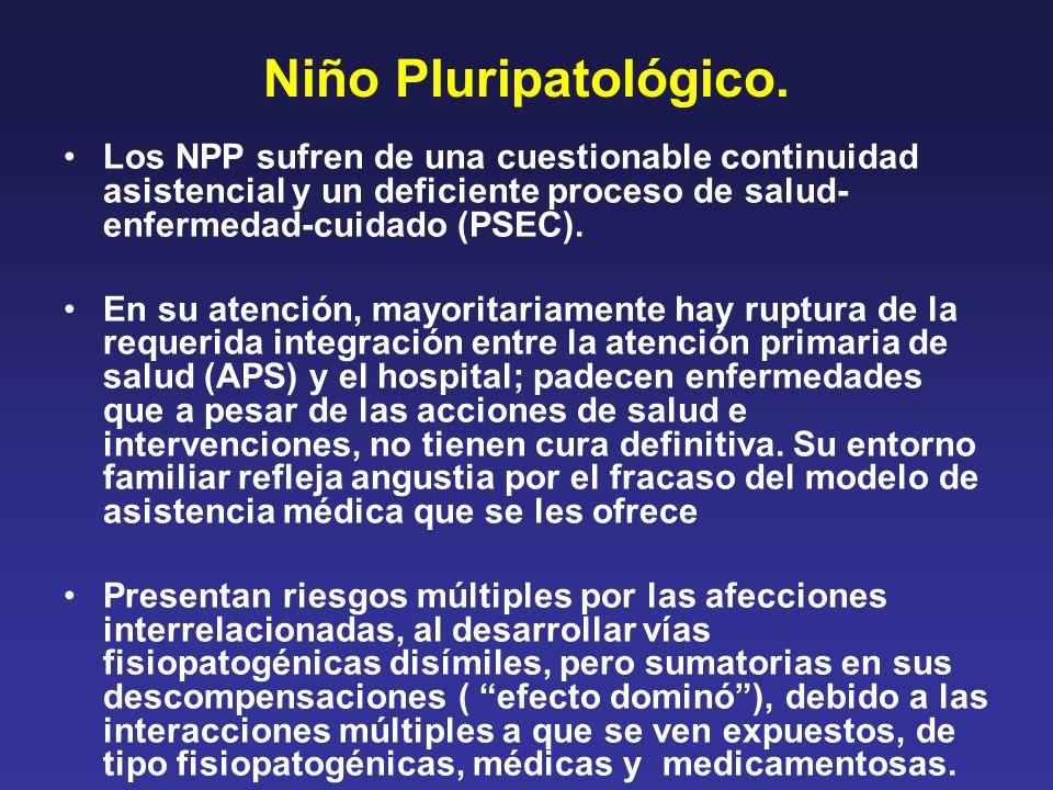 Niño Pluripatológico. Los NPP sufren de una cuestionable continuidad asistencial y un deficiente proceso de salud- enfermedad-cuidado (PSEC).