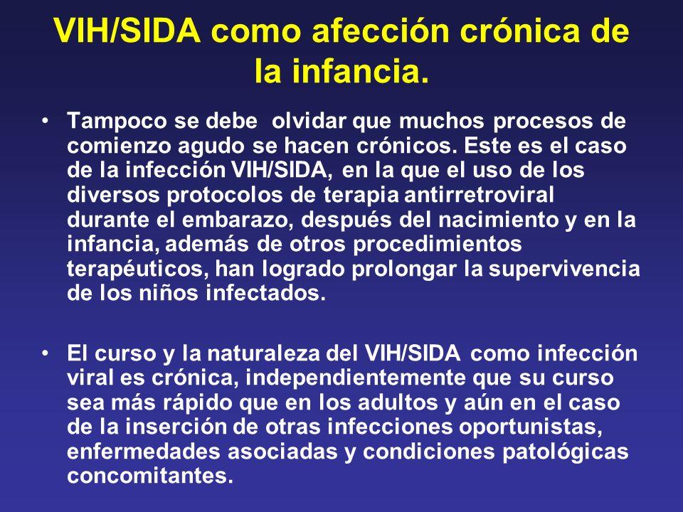 VIH/SIDA como afección crónica de la infancia.