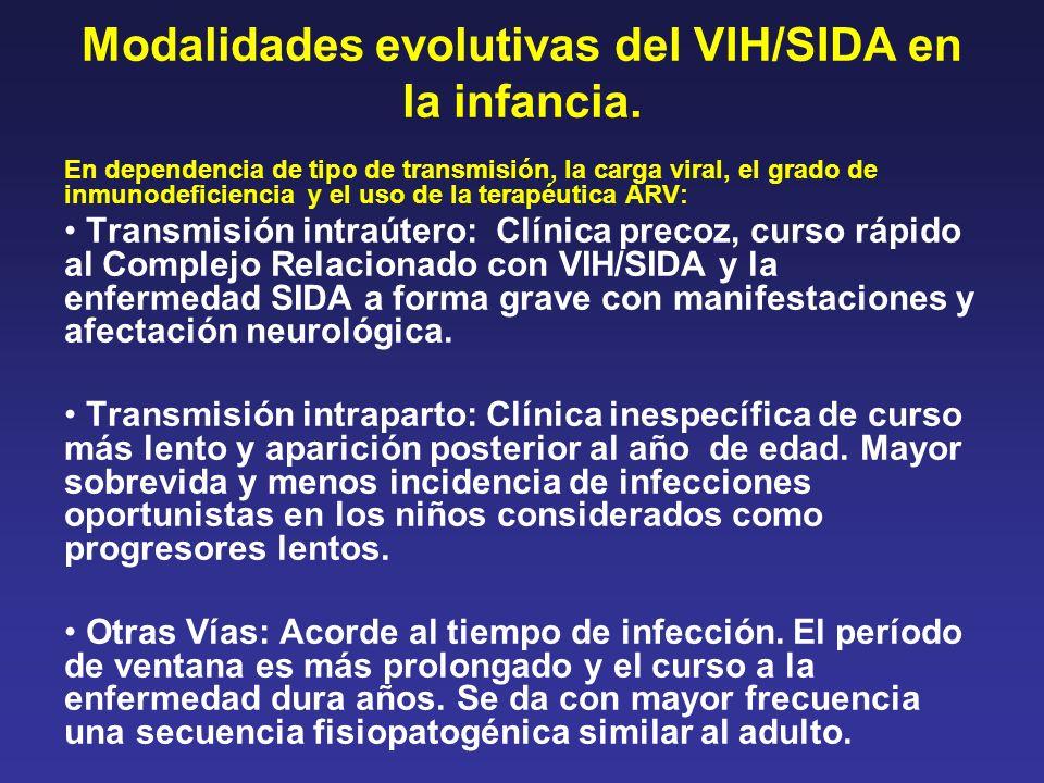 Modalidades evolutivas del VIH/SIDA en la infancia.