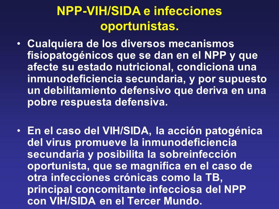 NPP-VIH/SIDA e infecciones oportunistas.