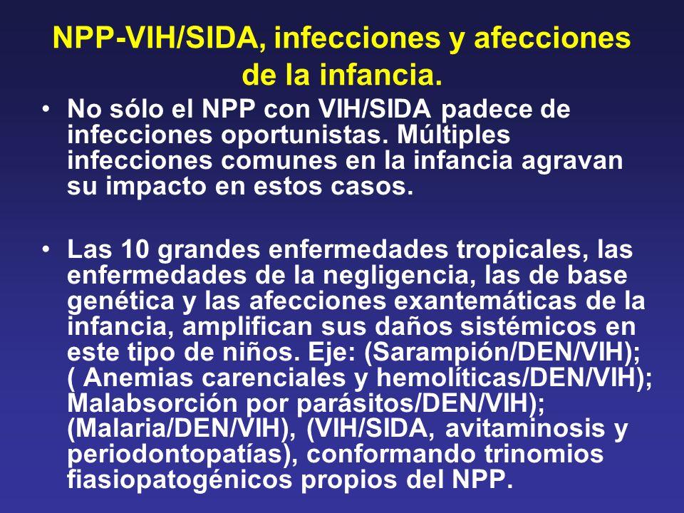 NPP-VIH/SIDA, infecciones y afecciones de la infancia.