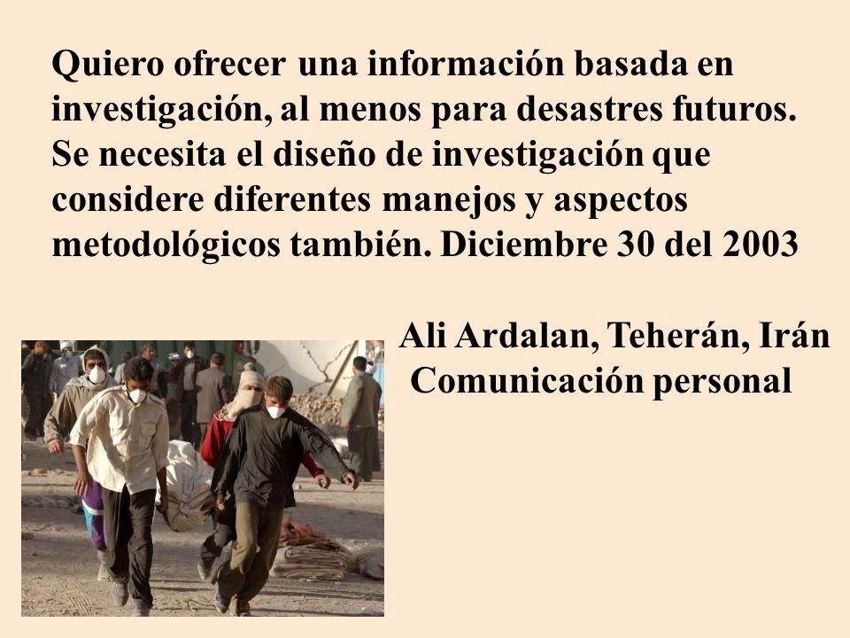 Ali Ardalan, Teherán, Irán Comunicación personal
