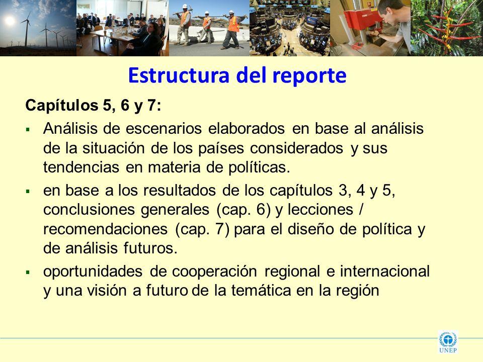 Estructura del reporte