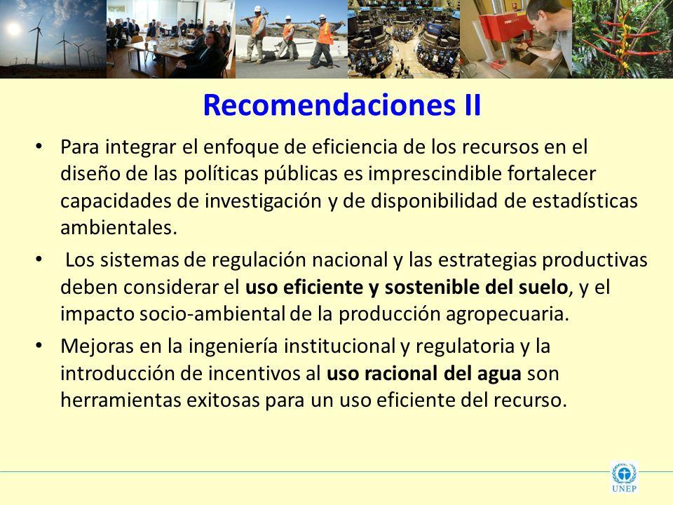 Recomendaciones II