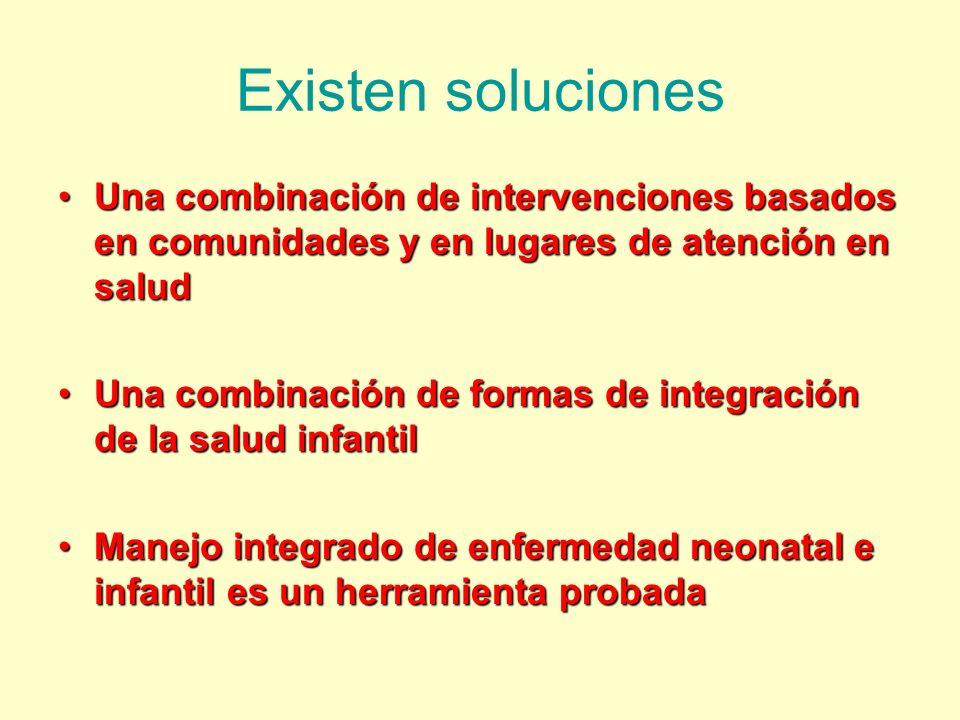 Existen soluciones Una combinación de intervenciones basados en comunidades y en lugares de atención en salud.