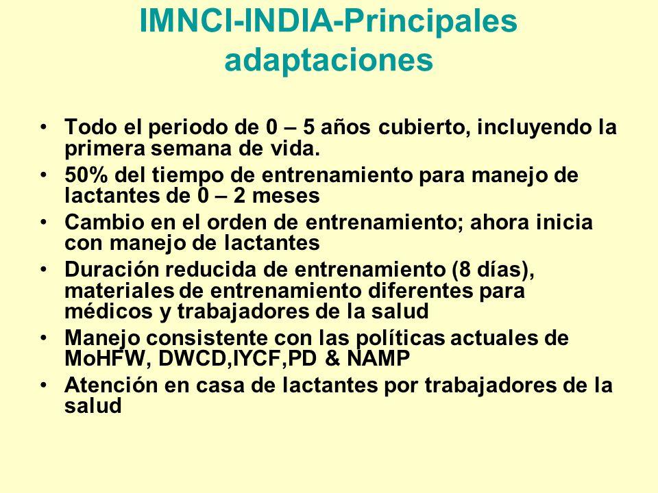 IMNCI-INDIA-Principales adaptaciones