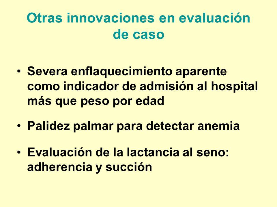 Otras innovaciones en evaluación de caso