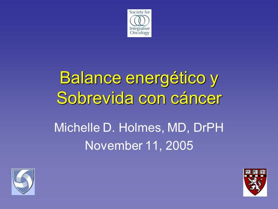 Balance energético y Sobrevida con cáncer