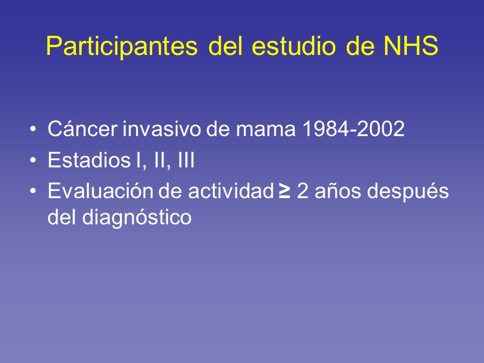 Participantes del estudio de NHS