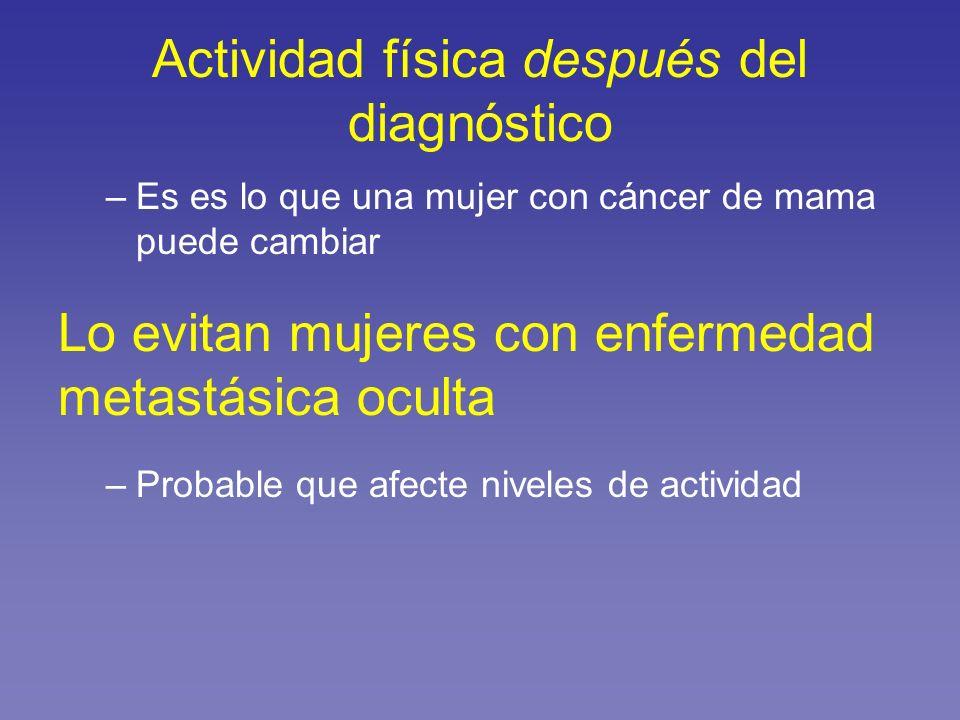 Actividad física después del diagnóstico