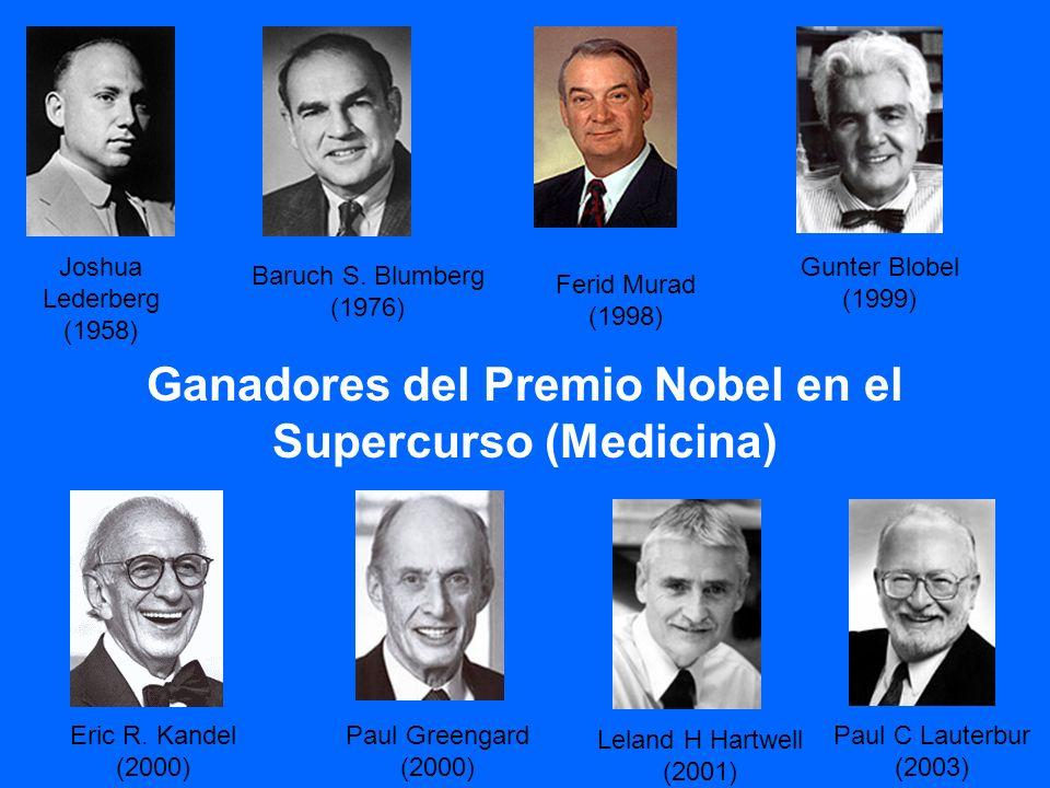 Ganadores del Premio Nobel en el Supercurso (Medicina)
