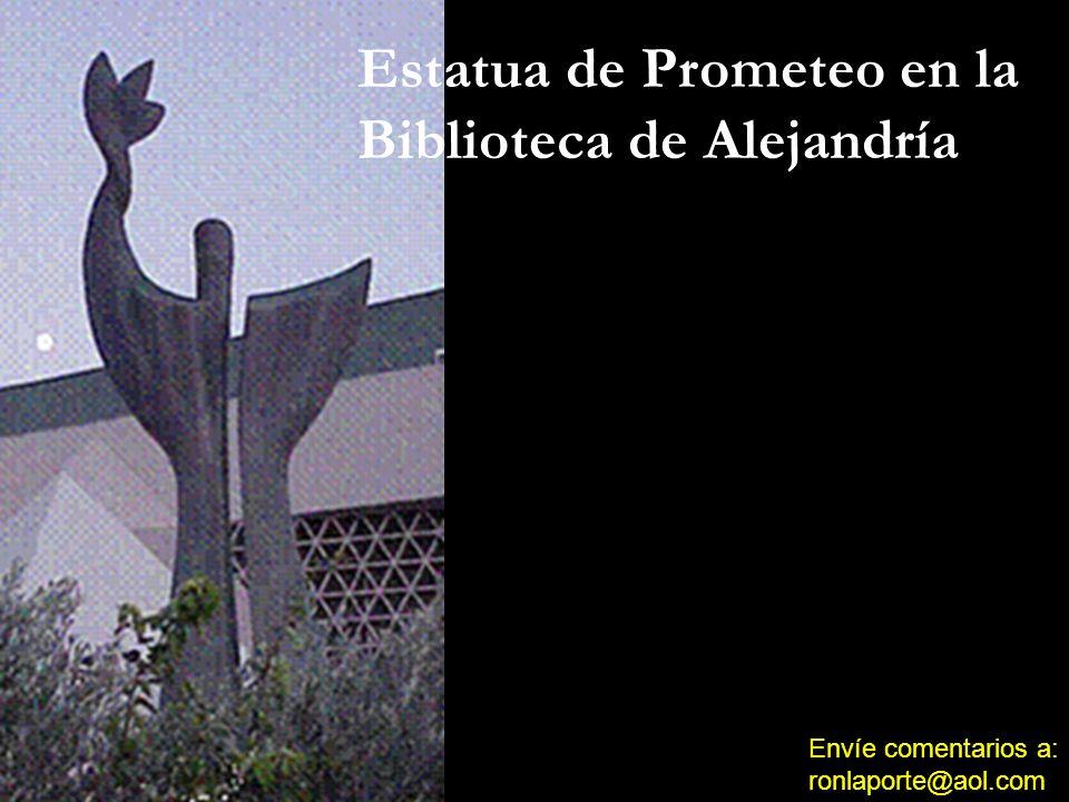 Estatua de Prometeo en la Biblioteca de Alejandría
