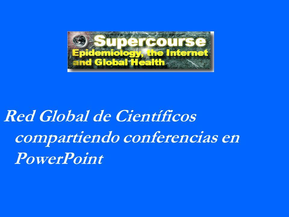Supercourse Red Global de Científicos compartiendo conferencias en PowerPoint.