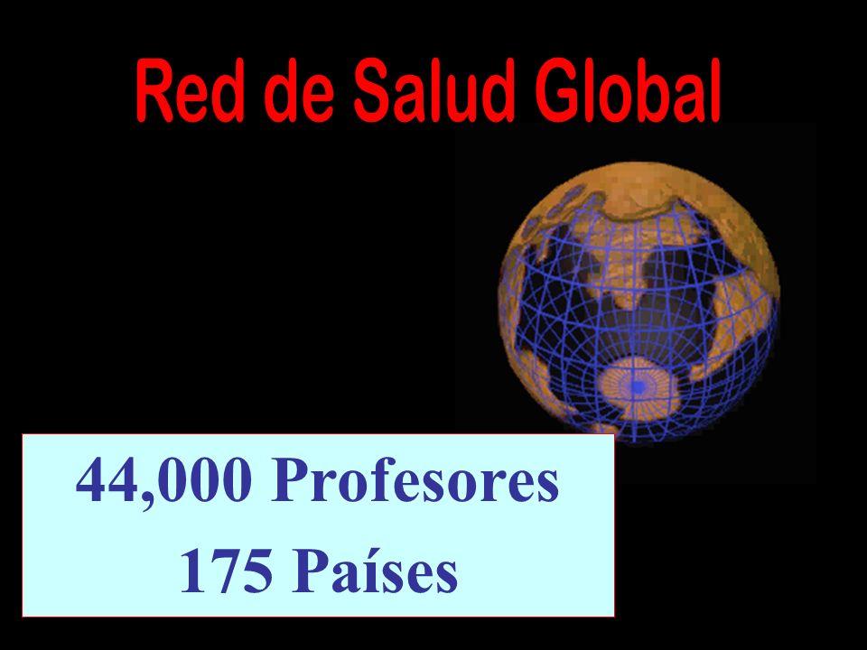 44,000 Profesores 175 Países Red de Salud Global