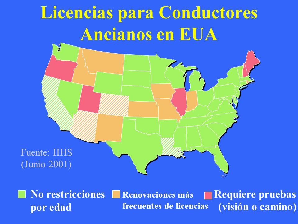 Licencias para Conductores Ancianos en EUA