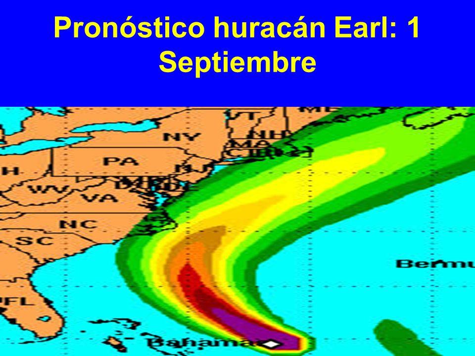 Pronóstico huracán Earl: 1 Septiembre