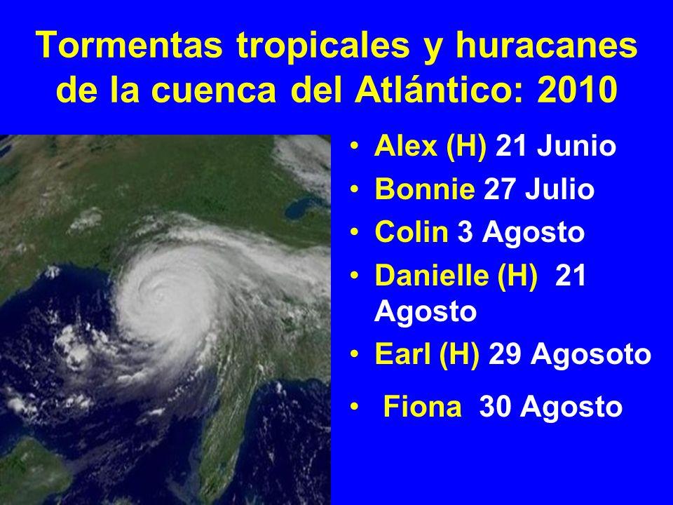 Tormentas tropicales y huracanes de la cuenca del Atlántico: 2010