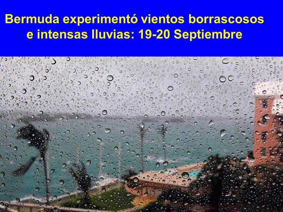 Bermuda experimentó vientos borrascosos e intensas lluvias: 19-20 Septiembre