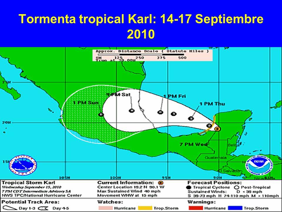 Tormenta tropical Karl: 14-17 Septiembre 2010