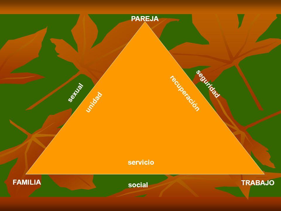 PAREJA recuperación seguridad unidad sexual servicio FAMILIA TRABAJO social