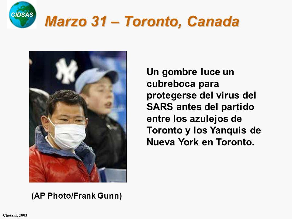 Marzo 31 – Toronto, Canada