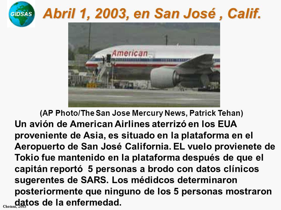 Abril 1, 2003, en San José , Calif.(AP Photo/The San Jose Mercury News, Patrick Tehan)