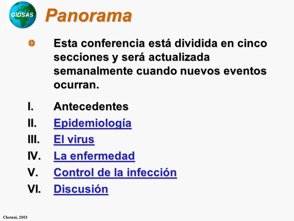 Panorama Esta conferencia está dividida en cinco secciones y será actualizada semanalmente cuando nuevos eventos ocurran.