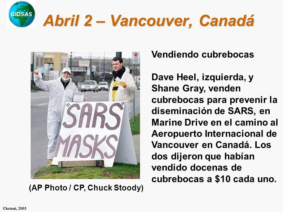 Abril 2 – Vancouver, Canadá