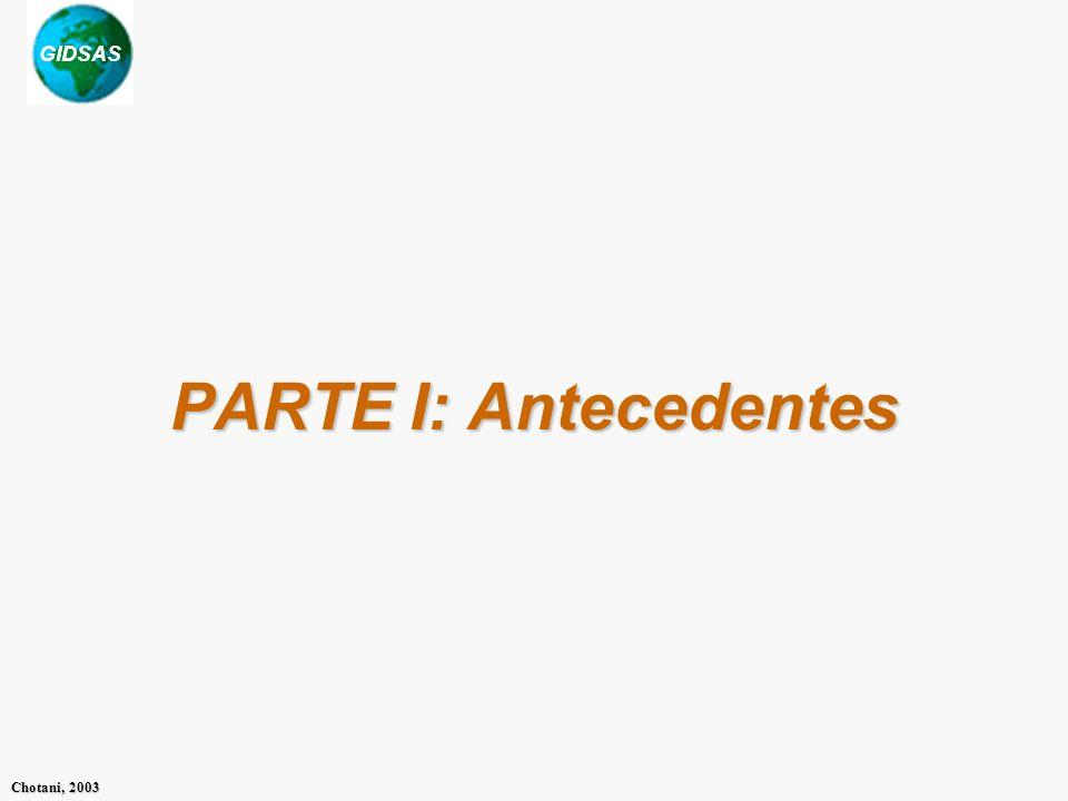PARTE I: Antecedentes