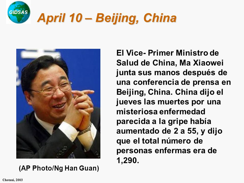April 10 – Beijing, China