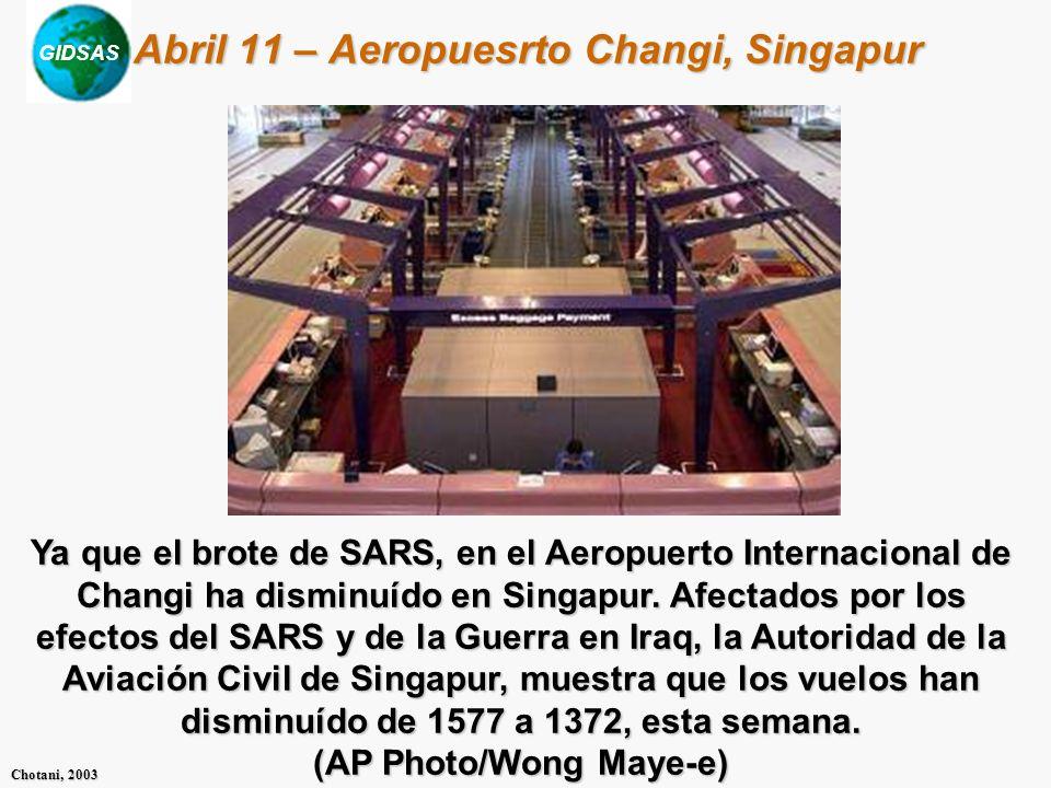 Abril 11 – Aeropuesrto Changi, Singapur