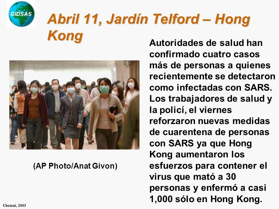 Abril 11, Jardín Telford – Hong Kong