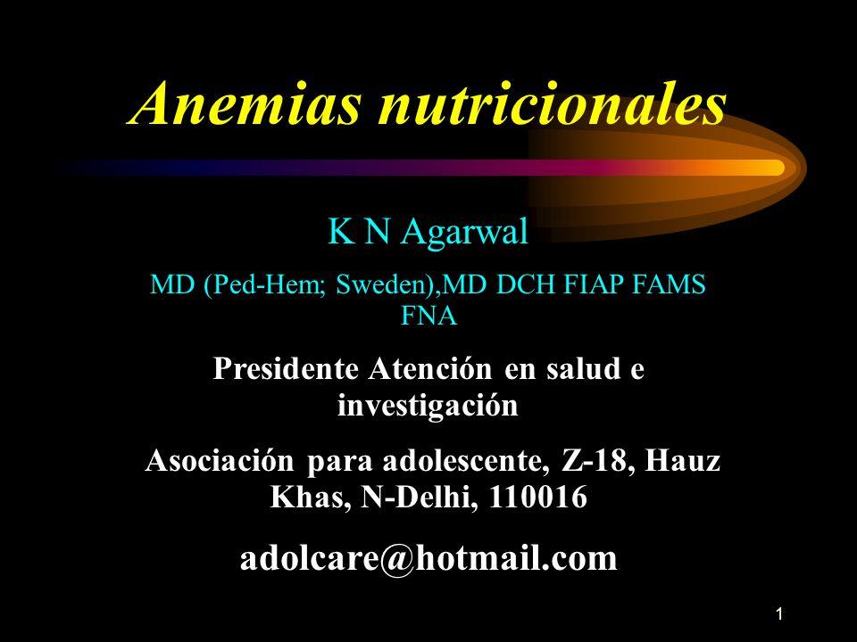Anemias nutricionales