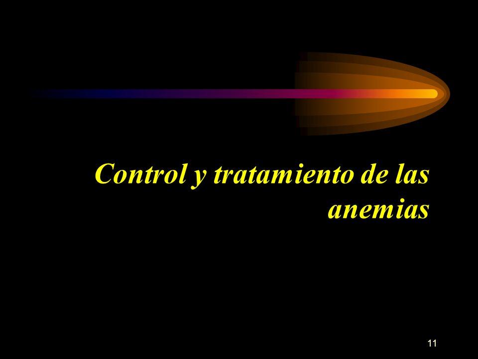 Control y tratamiento de las anemias